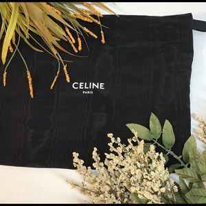 Celine Paris black pattern pull string dust  bag